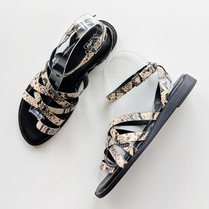 Franco Sarto Georgie Leather Ankle Strap Sandal